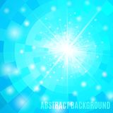 Blue abstract background with flare. Vector illustration stock illustration