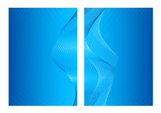 Blue abstract background, front and back Royalty Free Stock Photo
