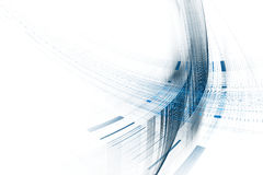 Blue abstract background. Abstract blue futuristic science technology background design Stock Illustration