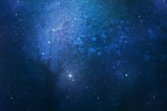 Blue abstract background glalaxy Stock Photos