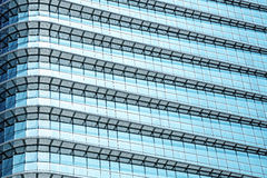 Blue abstract background, glass and steel of modern building Royalty Free Stock Image