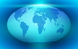 Blue Abstract background with globe. Vector illustration royalty free illustration