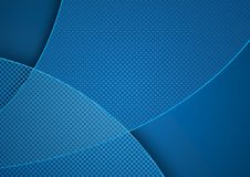 Blue Abstract Background and Grid Pattern vector illustration