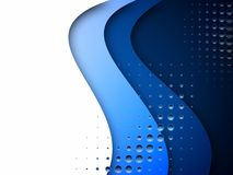 Blue abstract background with half tone royalty free illustration