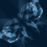 Blue abstract background. Blue abstract background of intertwining tones Royalty Free Illustration