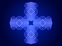 Blue abstract background, kaleidoscope. Shapes Royalty Free Stock Images