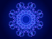Blue abstract background, kaleidoscope Stock Photography