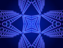 Blue abstract background, kaleidoscope. Shapes Stock Photos