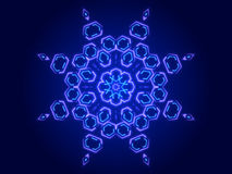 Blue abstract background, kaleidoscope. Shapes Royalty Free Stock Image