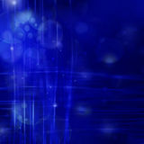 Blue abstract background with light lines.  Stock Photos