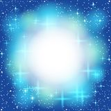 Blue abstract background, light, shiny, star. Royalty Free Stock Photos