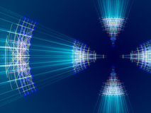 Blue abstract background, lines and light. Form royalty free illustration