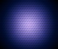 Blue abstract background with metal background. Grid of round cells. Background with 3D effect. For backgrounds, wallpapers, covers and your design Stock Images