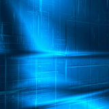 Blue abstract background new technology texture. Blue abstract background with technology striped texture, may use as business or high tech advertising Stock Photos