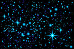 Blue Abstract background. Night sky with stars. Vector illustration. Art vector illustration