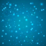 Blue Abstract background. Night sky with stars. Vector illustration. Falling snow. Abstract white glitter snowflake background. Ma Royalty Free Stock Images