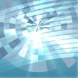 Blue abstract background overlaying circle02. Blur blue gradient background of bright perspective with glow light circle dart target success topic square Stock Photo