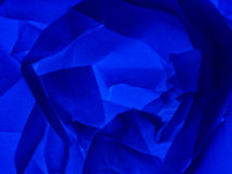 Blue abstract background - paper rose, rosette Stock Photos