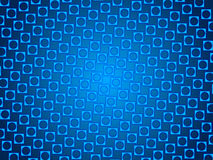 Blue abstract background, particles circles and squares Stock Photos