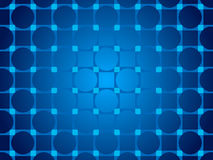 Blue abstract background, particles circles and squares Stock Photo