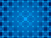 Blue abstract background, particles circles and squares Royalty Free Stock Photo
