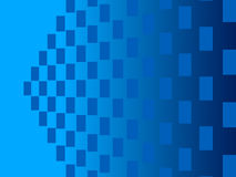 Blue abstract background, particles rectangles Royalty Free Stock Photos
