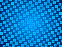 Blue abstract background, particles stars and squares Royalty Free Stock Images