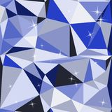 Blue abstract background polygon Stock Photos