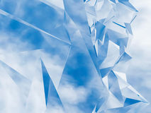 Blue abstract background with polygon surface Royalty Free Stock Photos