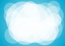 Blue Abstract Background. Round abstract blue color background Stock Image