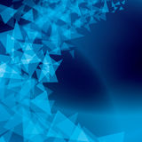 Blue abstract background with scattered shapes Royalty Free Stock Photography