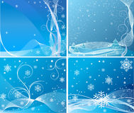 Blue abstract background set Royalty Free Stock Photos