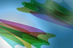 Blue abstract background with shaped objects. Reated from illustration royalty free illustration