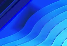 Blue abstract background in shapes. Abstract background consisting of straight and curved lines of dark and light blue royalty free illustration