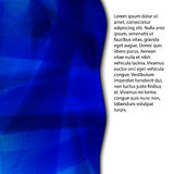 Blue abstract background with space for text Stock Photography