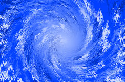Blue abstract background spiral Stock Photography