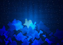 Blue abstract background with stars. Blue abstract background with glittering stars Royalty Free Stock Photo