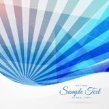 Blue abstract background with stripe rays. Vector vector illustration