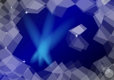 Blue abstract background. With transparent elements around Royalty Free Stock Photos
