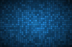 Blue abstract background with transparent squares Stock Photos