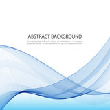 Blue Abstract Background. Transparent,wavy lines in the waveform on a white background Royalty Free Stock Images