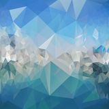 Blue abstract background, triangle design vector. Illustration Royalty Free Stock Photo