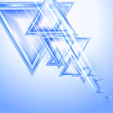 Blue abstract background. With triangles royalty free illustration