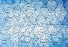 Blue abstract background. With triangles Stock Photo