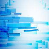 Blue Abstract Background. Stock Photo