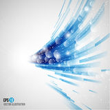 Blue abstract background. Vector illustration Stock Images