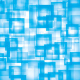 Blue abstract background. Vector abstract blue background with squares Vector Illustration