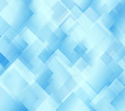 Blue abstract background. Vector background with transparent squares Stock Photo