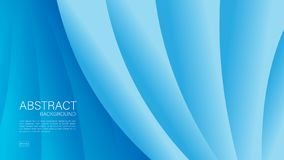Blue abstract background, wave, Geometric vector, graphic, Minimal Texture, cover design, flyer template, banner, web page, book royalty free illustration