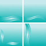 Blue abstract Background with waves Borders Stock Photography
